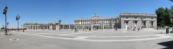 Madrid panorama. Panorama of Palacio Real, the Royal Palace in Madrid, Spain stock images