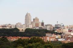 Madrid panorama, Spanien royaltyfri foto