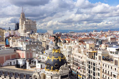 Madrid. Panoramic aerial view over Madrid, Spain Royalty Free Stock Photography