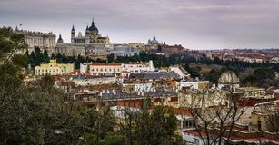 Madrid Panoramic View from Debod Spain stock image