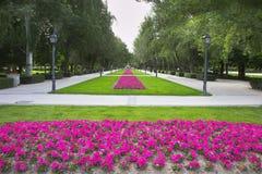Madrid park Buen-Retiro Royalty Free Stock Photography