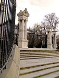 Madrid, Parque del Retiro 07. Entrance gate to Parque del Retiro in Madrid Stock Photos