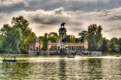 Madrid Parque del Retiro Lake - España Imágenes de archivo libres de regalías