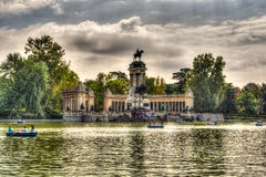 Madrid Parque del Retiro Lake - Spain Royalty Free Stock Images