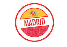 MADRID. Passport-style MADRID rubber stamp over a white background Royalty Free Stock Image