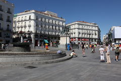 Madrid, People at Puerta del Sol Stock Photography