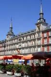 Madrid plaza. Plaza Mayor in Madrid, Spain Royalty Free Stock Photos