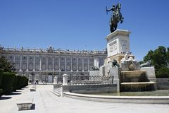 Madrid Plaza Royalty Free Stock Photo