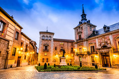 Madrid, Plaza de la Villa, Spain stock image