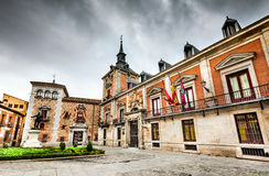 Madrid, Plaza de la Villa, Spain Stock Images