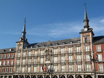 Madrid plaza mayor. Principal building in plaza mayor center of madrid stock images