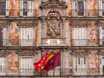 Plaza Mayor Madrid Spain. Facade of the Casa de la Panaderia in the Plaza Mayor, Madrid, Spain stock images