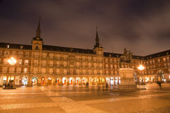 Madrid - Plaza Mayor in morning dusk Stock Image