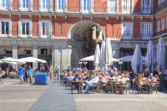 Madrid. Plaza Mayor Royalty Free Stock Photography