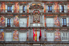 Madrid Plaza Mayor typical square in Spain Royalty Free Stock Photo
