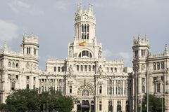 Madrid , post office Stock Image