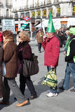 Madrid Protests Against Bankia Stock Image