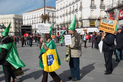 Madrid Protests Against Bankia Royalty Free Stock Image
