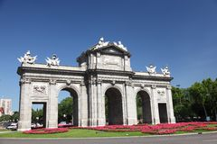 Madrid Puerta de Alaca Stock Photography