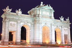Madrid - Puerta de Alcala Stock Photos