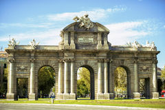 Madrid , The Puerta de Alcala Royalty Free Stock Photography