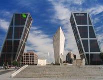 Madrid Puerta de Europa Spain royalty free stock photo