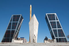 Free Madrid - Puerta De Europa, The Monuments  Royalty Free Stock Photography - 24072677