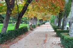 Madrid Retiro Park Stock Photo