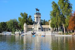Madrid - Retiro Park. Madrid, capital city of Spain. Monument to Alfonso XII in Retiro Park Royalty Free Stock Image
