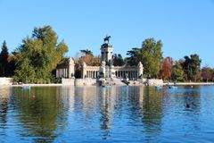Madrid - Retiro Park. Madrid, capital city of Spain. Monument to Alfonso XII in Retiro Park Stock Images