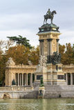 Madrid, Retiro Park Monument Stock Photo