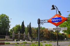 Madrid Retiro Park stock image