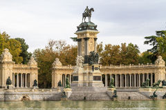 Madrid, Retiro-Parkmonument Stock Foto