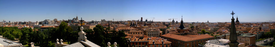 Madrid Roofs. Panorama of the roofs of madrid, capital of spain stock images
