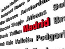 Madrid rouge Images stock