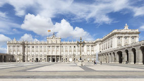 Madrid Royal Palace Armory Square Royalty Free Stock Photos