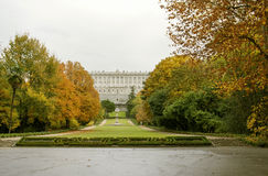 Madrid Royal Palace, Campo del Moro Gardens royalty-vrije stock afbeelding