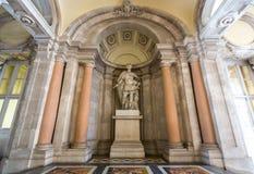 Madrid Royal Palace. Royal Palace corridor, Madrid, Spain Royalty Free Stock Photos