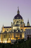 Madrid Royal Palace dal Sunset Fotografie Stock Libere da Diritti