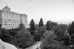 Madrid Royal Palace Espagne Photos libres de droits