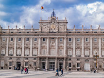 Madrid Royal Palace führen einzeln auf Lizenzfreies Stockfoto