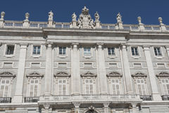 Madrid - Royal Palace facade Royalty Free Stock Photos