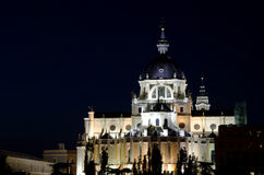 Madrid Royal Palace by Night Stock Photos