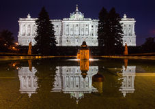 Madrid Royal Palace (Palacio de Oriente) Royalty Free Stock Image