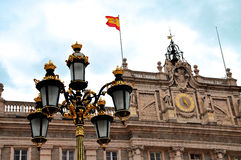 Madrid - Royal Palace. Palacio de Oriente, Madrid landmark, Spai Royalty Free Stock Images