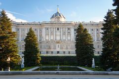 Madrid Royal Palace Royalty Free Stock Photos