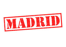 MADRID. Rubber Stamp over a white background Royalty Free Stock Photography