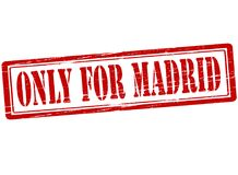 Only for Madrid. Rubber stamp with text only for Madrid inside,  illustration Royalty Free Stock Photography