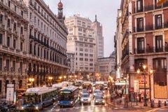 Madrid rush hour Stock Photos