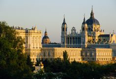 Madrid`s royal palace royalty free stock photography